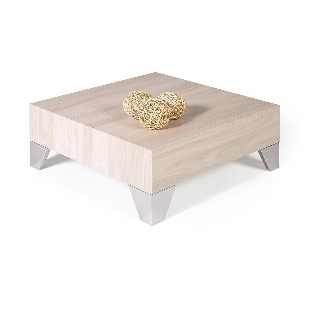 Table basse carrée, Evolution 60, Orme Perle