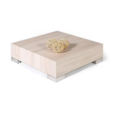Table basse carrée, iCube 60, Orme Perle