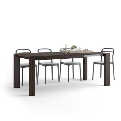 Extendable Kitchen Table Giuditta, Dark Oak