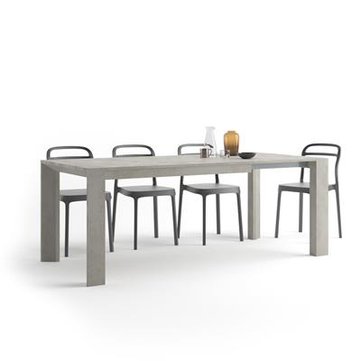 Extendable Kitchen Table, Giuditta, Grey Concrete