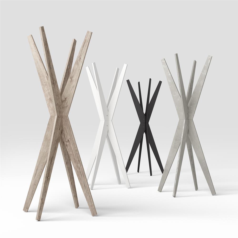 Appendiabiti Di Design Moderno.Appendiabiti Da Terra Di Design Emma Cemento Mobili Fiver