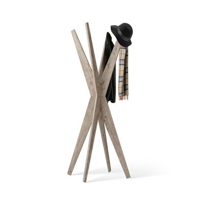 Free-standing Design Coat Rack, Emma Oak