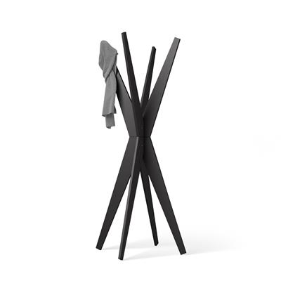 Free-standing Design Coat Rack, Emma Black Ash