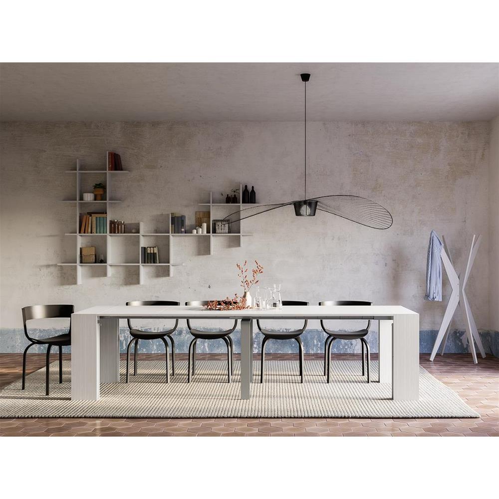 Appendiabiti da Terra di Design Mobili Fiver Emma Cemento 80 x 80 x 170,5 cm Made in Italy Nobilitato