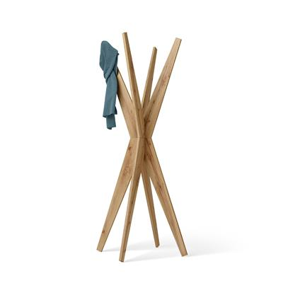 Free-standing Design Coat Rack, Emma Rustic Wood