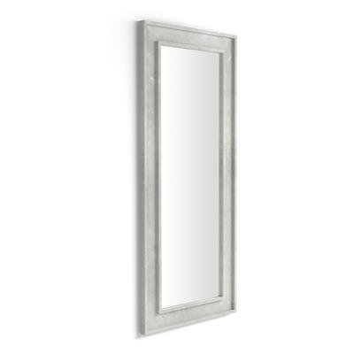 Wall-mounted/floor standing mirror Angelica , 160x67, Concrete