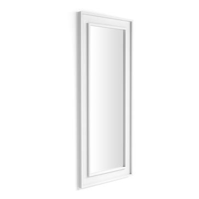 Wall-mounted/floor standing mirror Angelica , 160x67, White Ash