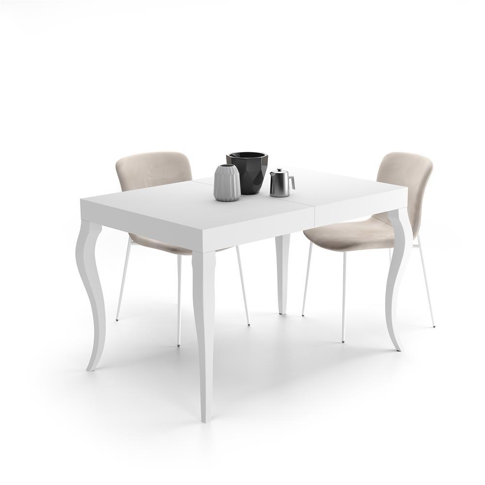 Tavolo Bianco Classico.Tavolo Allungabile Classico Bianco Opaco