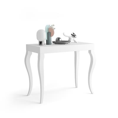 Extendable Console Table Classico, Opaque White