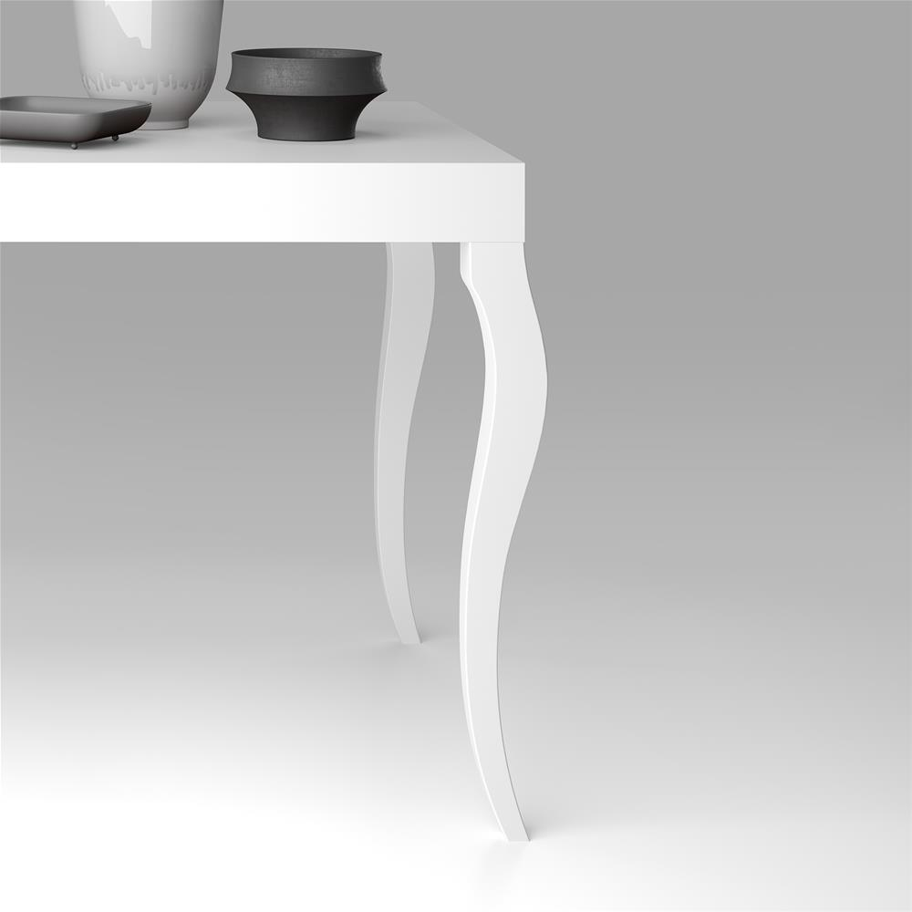 Console Extensible Classico, Blanc Mat