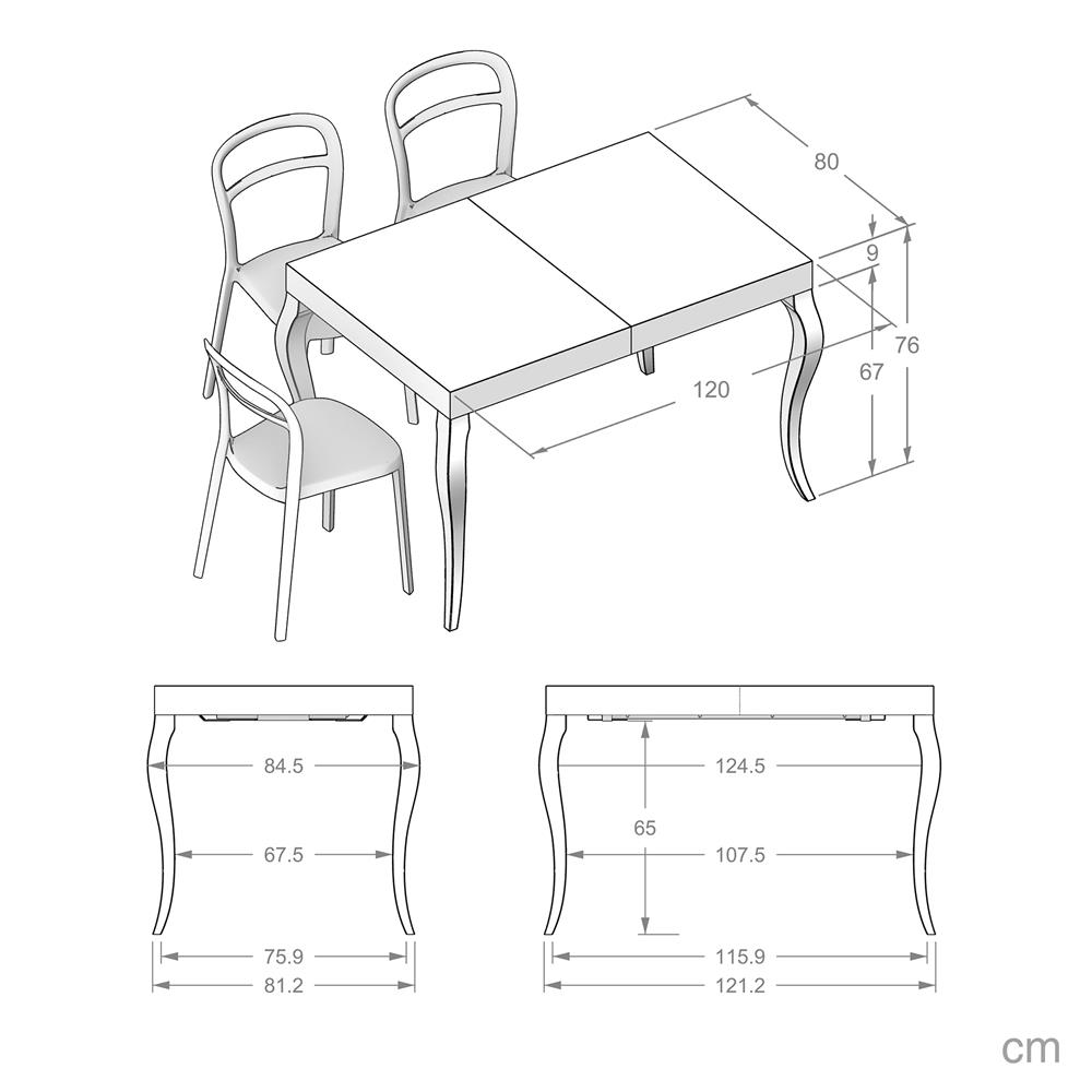 Table Extensible Classico, Noyer
