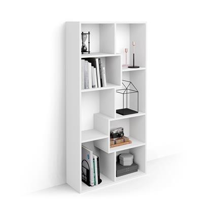 Narrow bookcase XS Iacopo (160,8 x 80 cm), White Ash