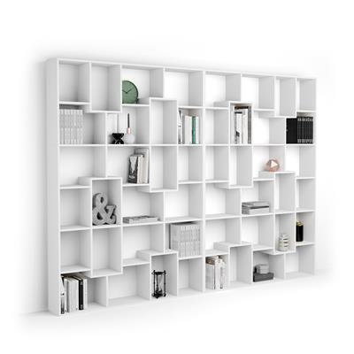Bookcase XL Iacopo (321,6 x 236,4 cm), White Ash