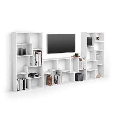 Iacopo TV wall unit, White Ash