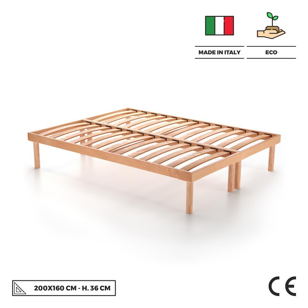 Somier de duelas de madera para dos plazas de 160x200 36h - Duelas de madera ...