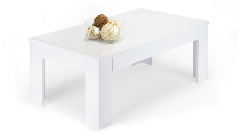 Easy coffee table in Glossy White