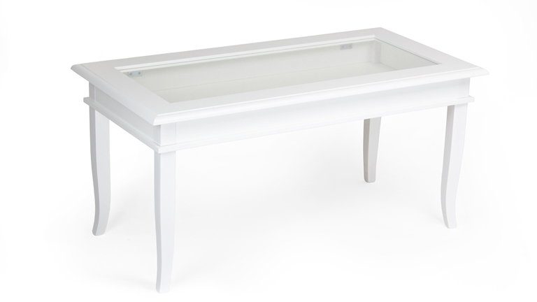 Classico coffee table with glass top