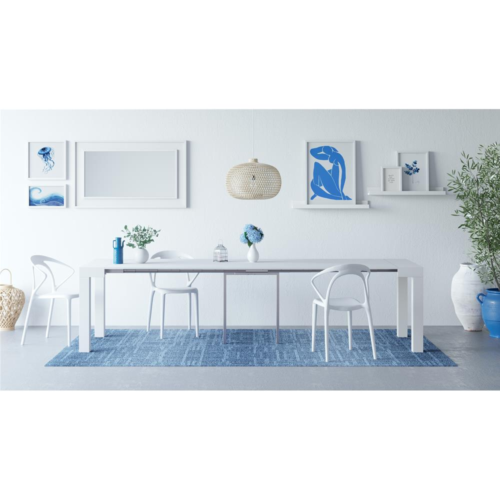 Extendable console table First, White Ash