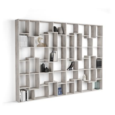 Bookcase XL Iacopo (236,4 x 321,6 cm), Grey Concrete
