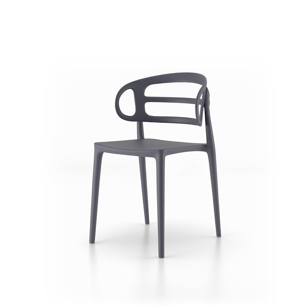 Set 4 sedie moderne da cucina carlotta grigio mobili fiver for Set sedie cucina
