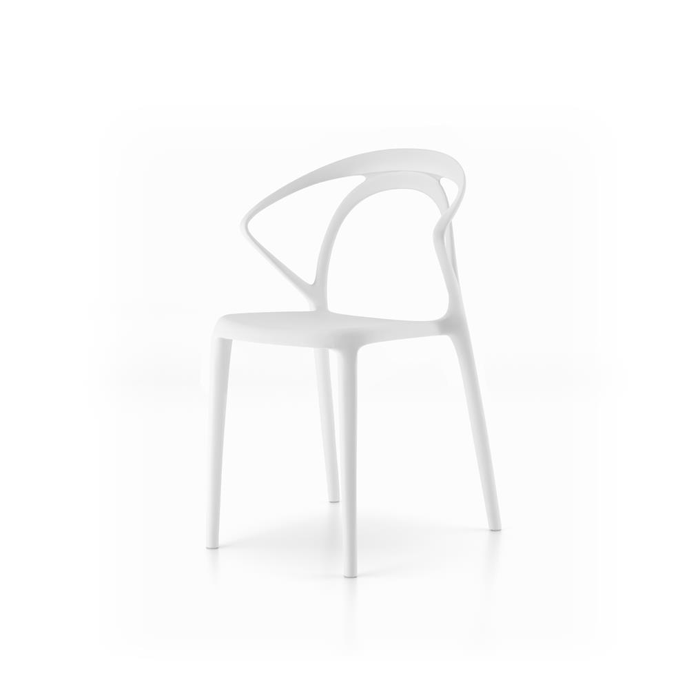 Set 4 Sedie da sala di design Olivia, Bianco