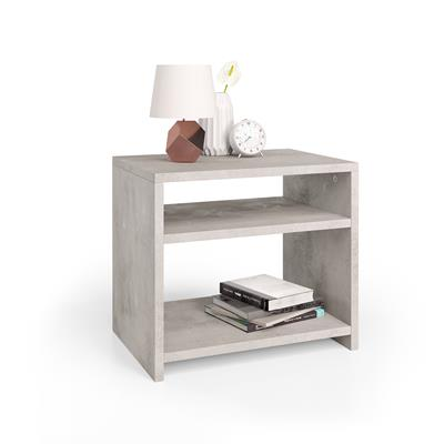 Martino bedside table, Grey Concrete