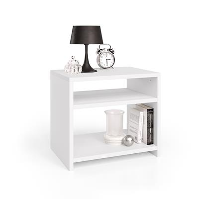 Martino bedside table, White Ash