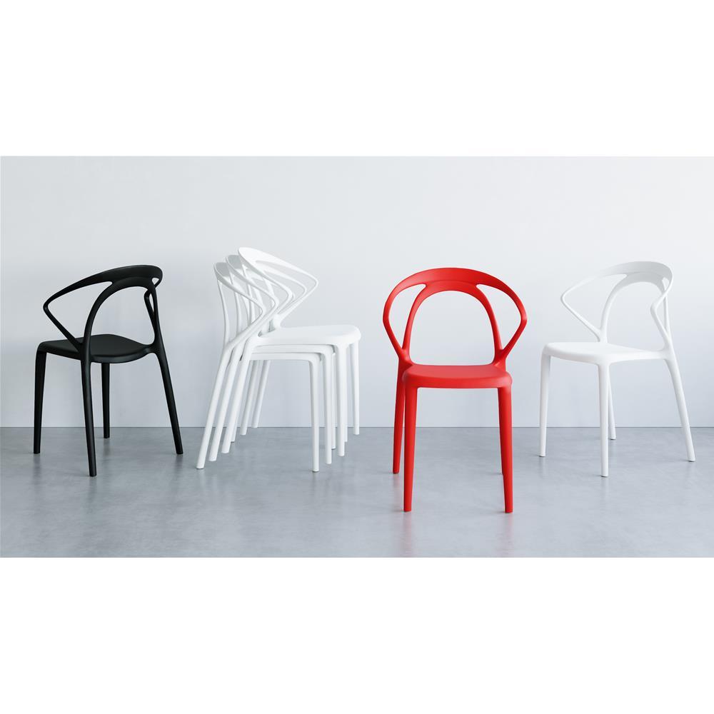 Sedie Da Design.Set 4 Sedie Da Sala Di Design Olivia Bianco
