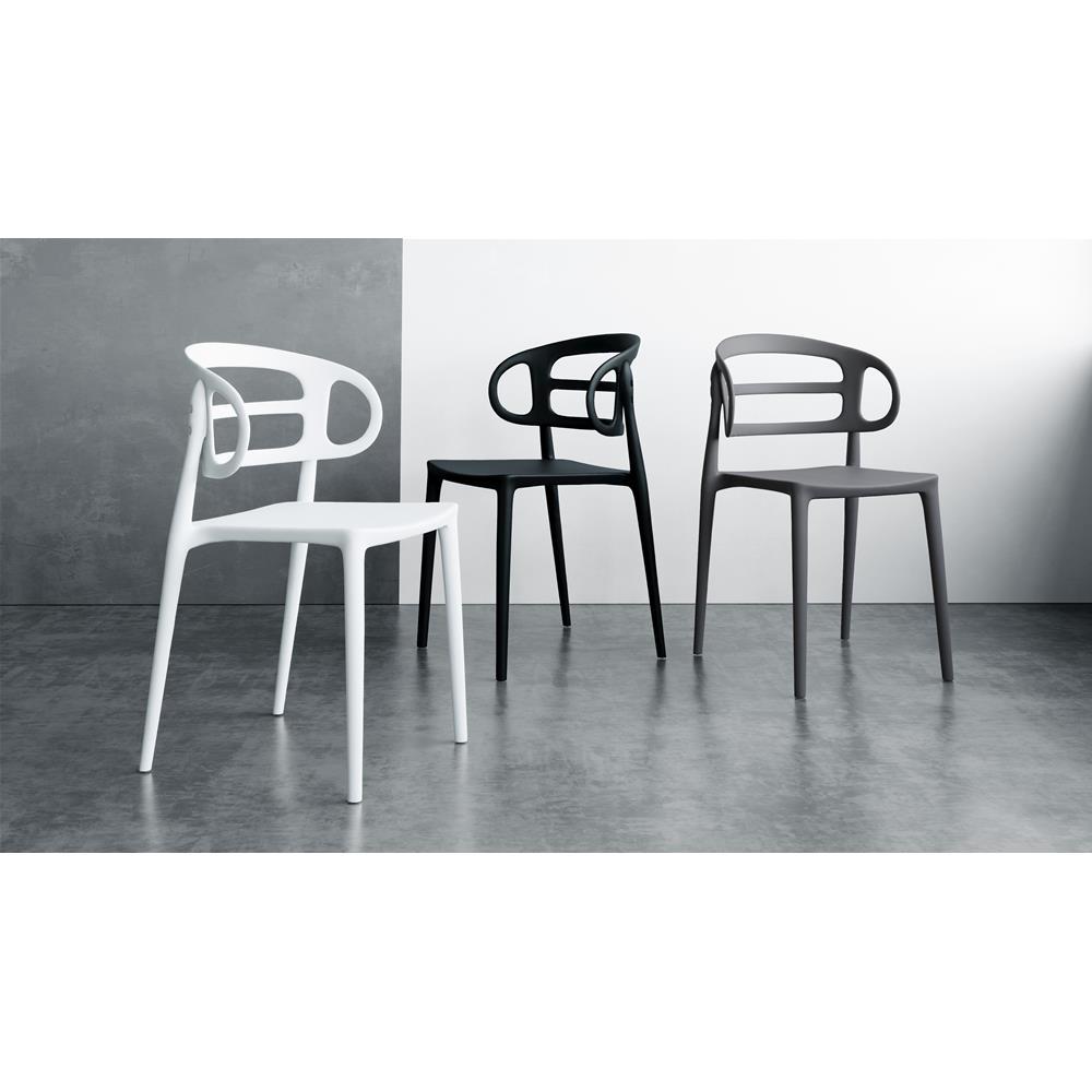 Immagini Sedie Moderne.Set 4 Sedie Moderne Da Cucina Carlotta Nero