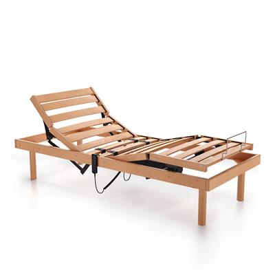 120x200 cm 26h motorised wooden slatted French bed frame
