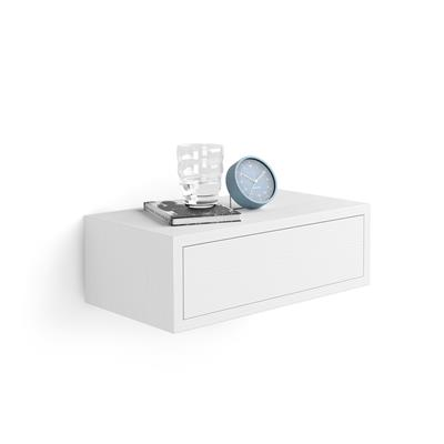 Riccardo, Bedside Table, White Ash