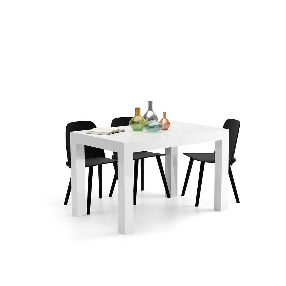 Extending Table, First, Color Glossy White