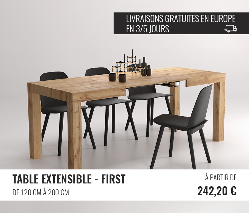 Table Extensible First - Mobili Fiver