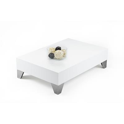 Table basse, Evolution 90, Blanc laqué brillant