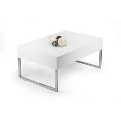 Table basse, Evolution XL, Blanc laqué brillant