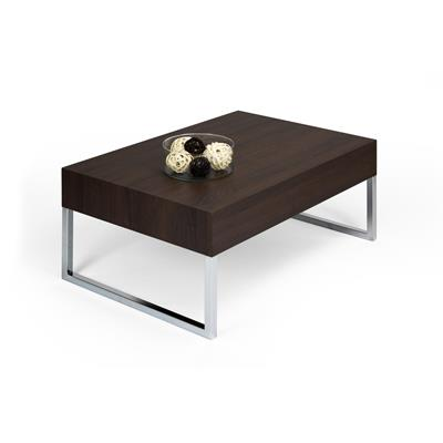 Mesa de centro, modelo Evolution XL, color Roble oscuro - Wenguè