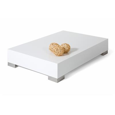 Coffee table, iCube 90, Glossy White