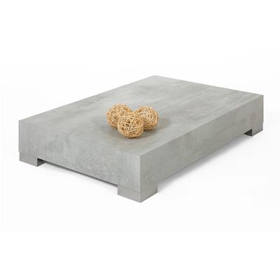 Coffee table, iCube 90, Grey Concrete