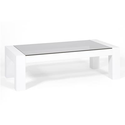 Coffee table, Tempered glass top, Iacopo, Glossy White
