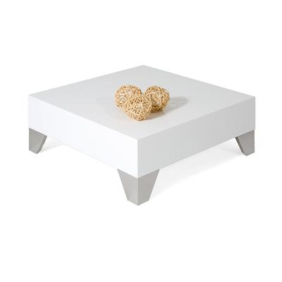 Square Coffee table, Evolution 60, Glossy White