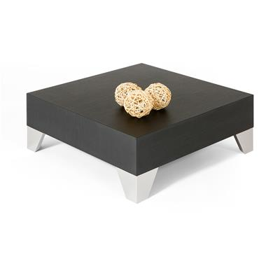 Square Coffee table, Evolution 60, Black Ash