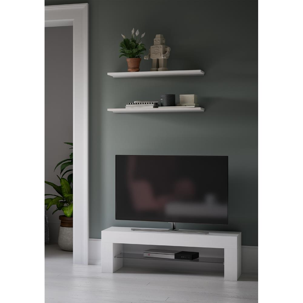 Mueble de TV, modelo Evolution, color Fresno Blanco