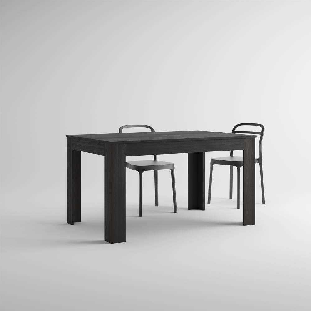 Extendable Kitchen Table, Easy, Black Ash