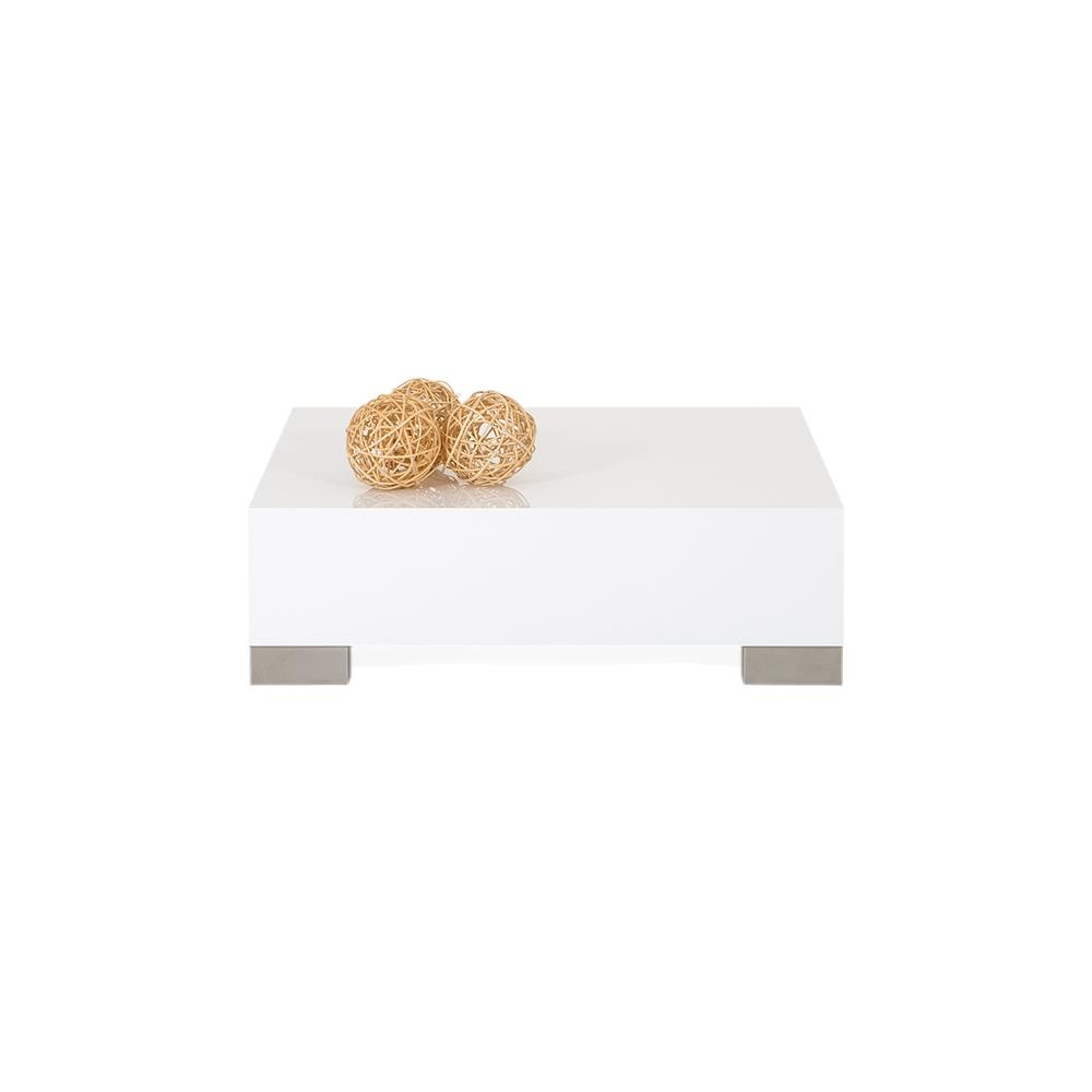 Coffee table, iCube 60, Glossy White