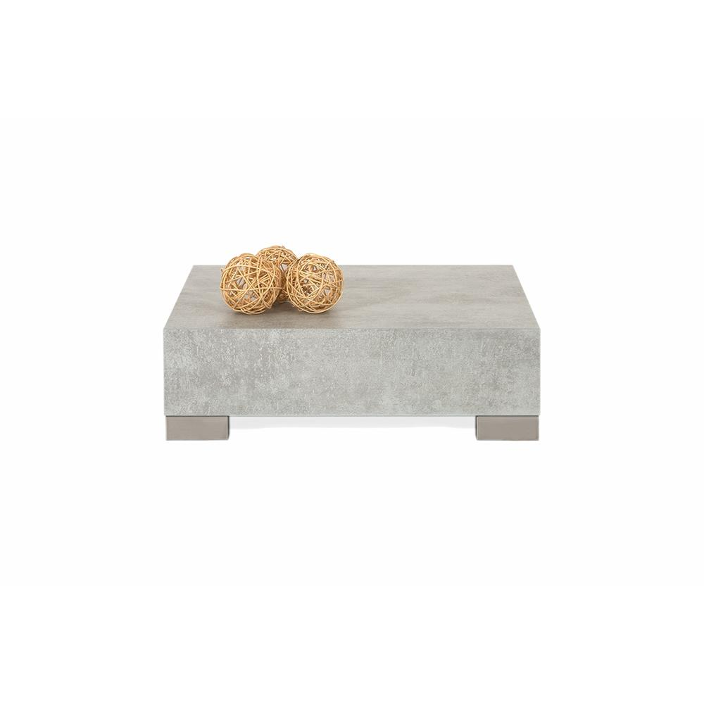 Small coffee table, iCube 60, Grey Concrete