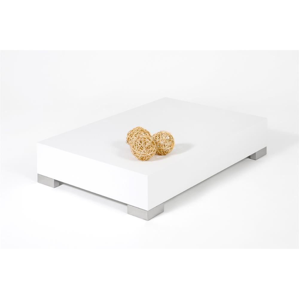 Coffee table, iCube 90, White Ash