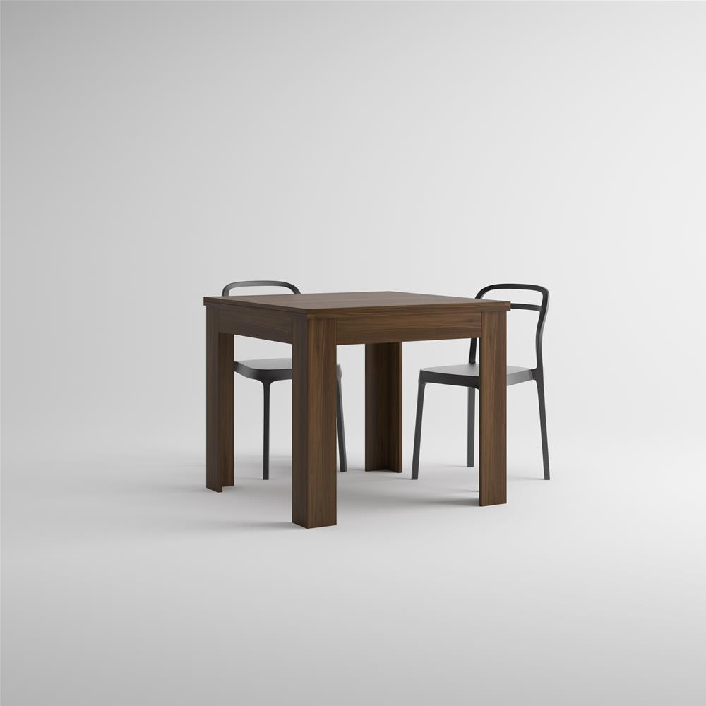 Square extendable dining table, Eldorado, Canaletto Walnut