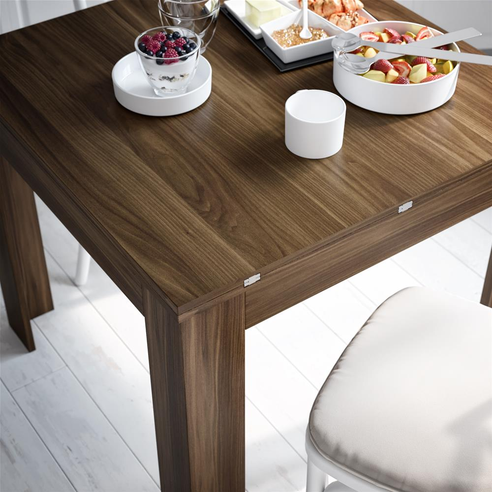 Square extendable dining table, Eldorado, Oak