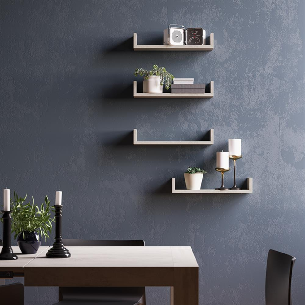 "A Pair of ""U""-shaped Shelves, Iacopo, in Laminate-faced Black Ash"
