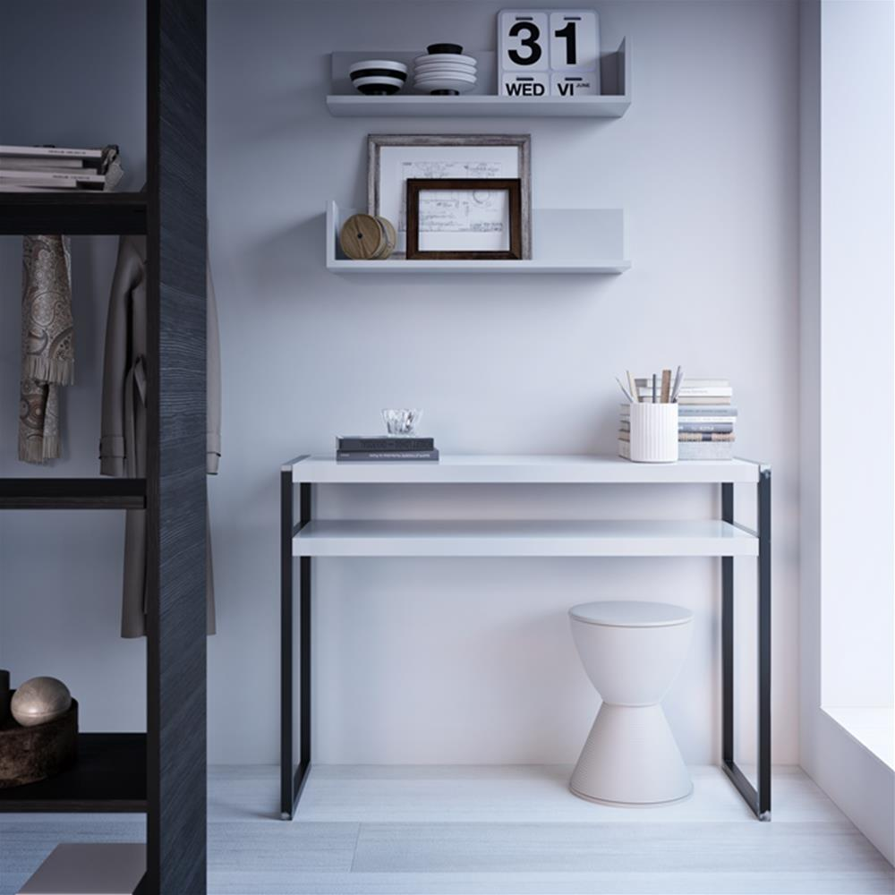 A Pair of Luxury Shelves, in Laminate-faced Black Ash